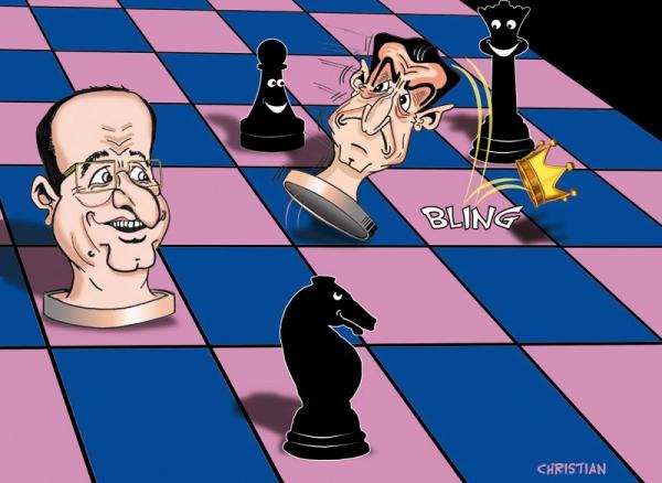 Nicolas Sarkozy, François Hollande par chris69